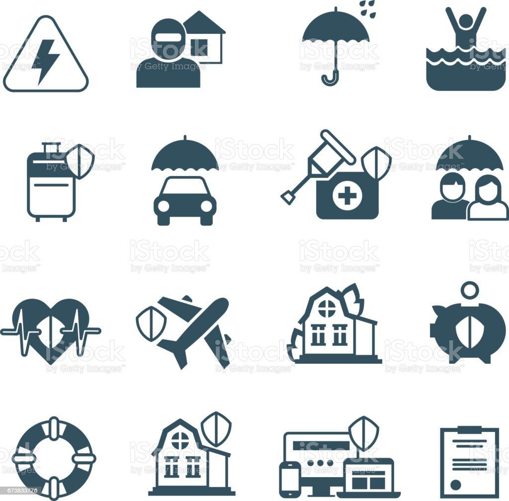 Sigorta vektör simgeler. Koruma ve güvenlik simgeleri royalty-free sigorta vektör simgeler koruma ve güvenlik simgeleri stok vektör sanatı & aile'nin daha fazla görseli