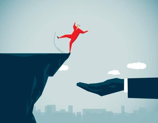 insurance - cliffs stock illustrations
