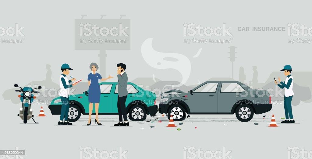 Insurance worker - ilustración de arte vectorial