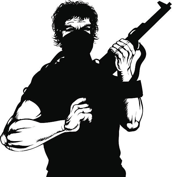 Insurgent vector art illustration