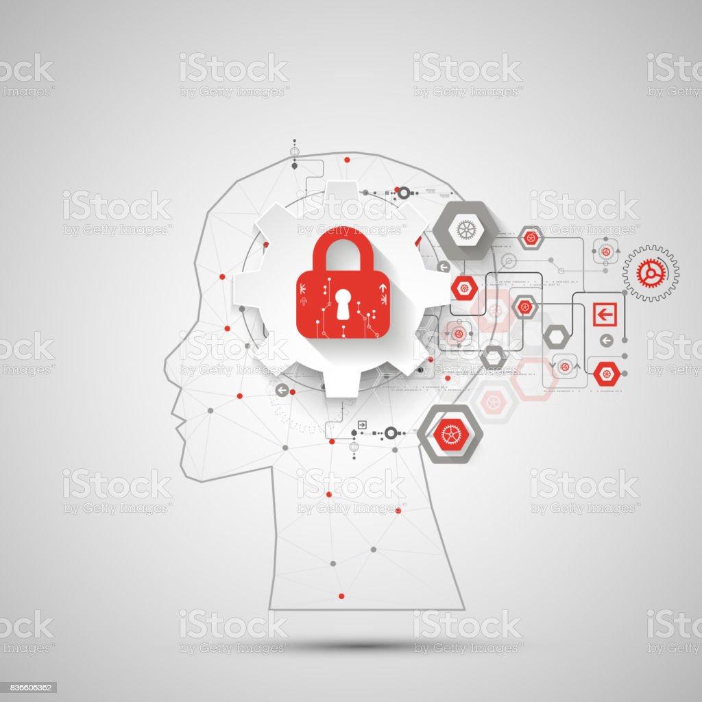 Intellectual Property Art: Intellectual Property Concept Background Stock Vector Art