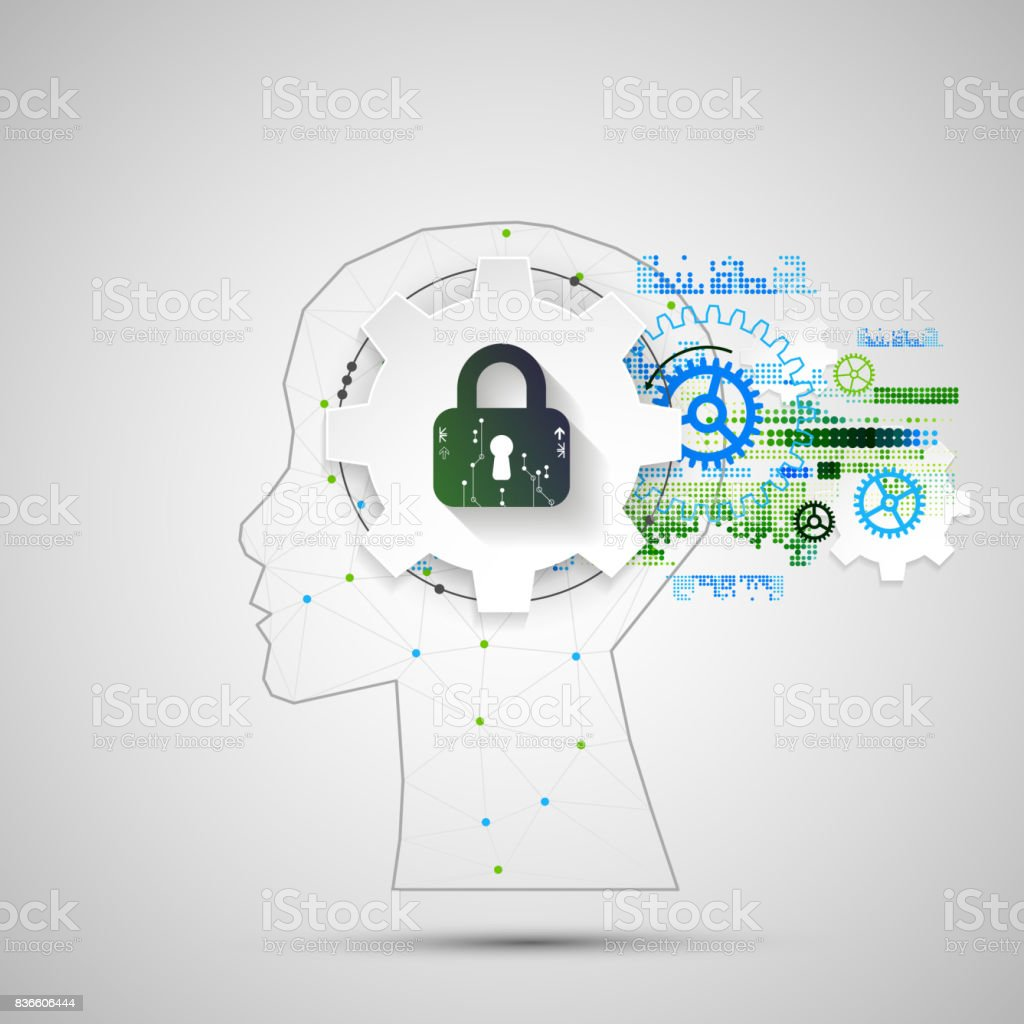 Intellectual property concept background. vector art illustration