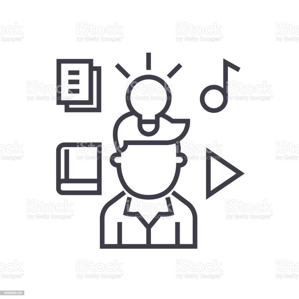 Intellectual Property Rights: Intellectual Property Rights Vector Line Icon Sign