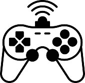 istock Intelligent Gamepad with Motion Sensor Vector color line Icon Design, Internet of things symbol on white background, IoT and automation stock illustration, Smart Wireless Gaming Controller Concept, 1318993853