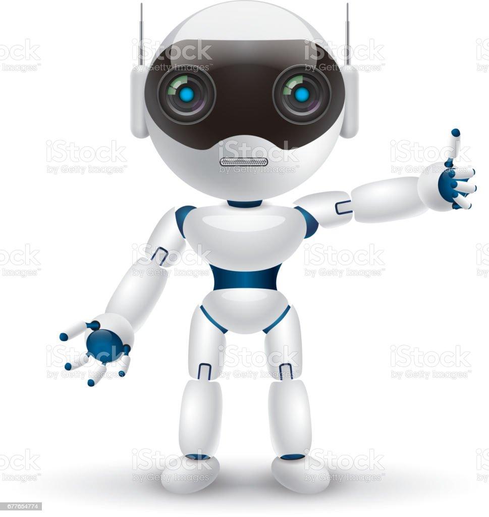 akıllı robot vektör sanat illüstrasyonu