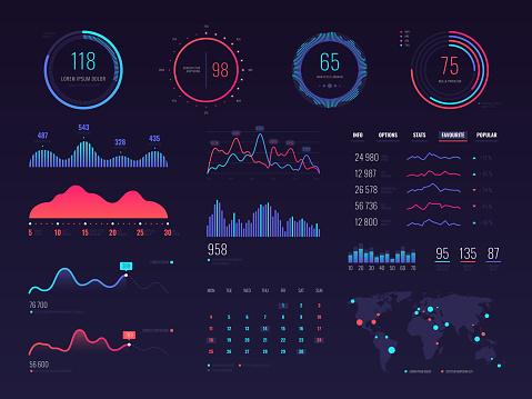 infographics elements stock illustrations