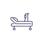 Intensive care unit line icon