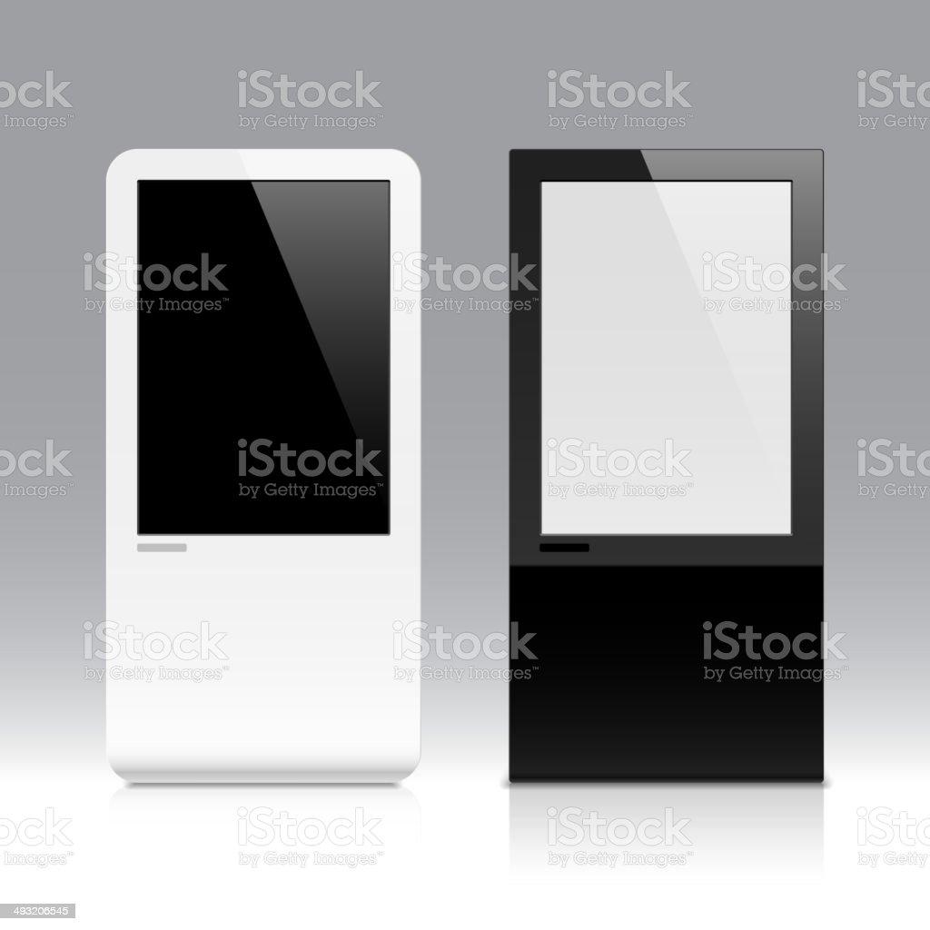 Interactive touch screen vector art illustration