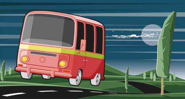 Intercity caravan Worked by adobe illustrator... included illustrator 10.eps and 300 dpi jpeg files... easy editable vector... rv interior stock illustrations