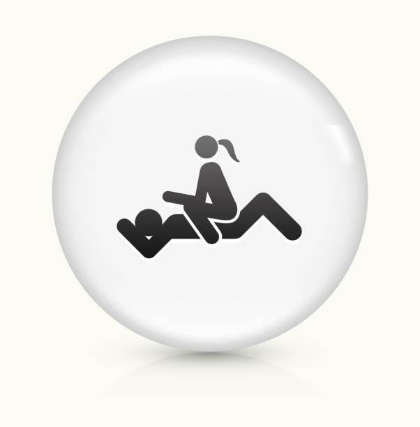 性交 白くて丸いベクトルボタンのアイコン ベクターアートイラスト