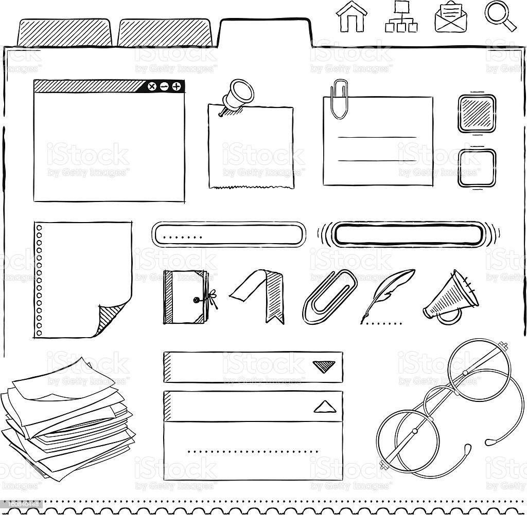 Interface Design Elements royalty-free stock vector art