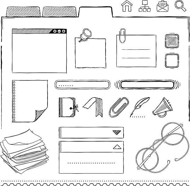 インターフェース設計要素 - いたずら書き/手書きのフレーム点のイラスト素材/クリップアート素材/マンガ素材/アイコン素材