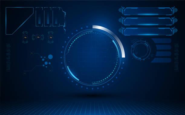 Schnittstelle futuristische hud Ui Sci Fi Design Konzept Sicherheitsvorlage – Vektorgrafik