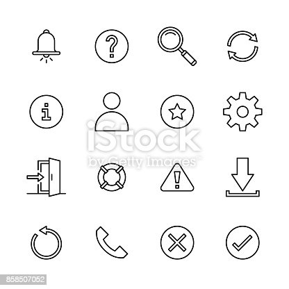 Interface icons - Line Vector EPS File.