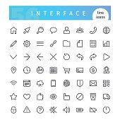 Interface Line Icons Set
