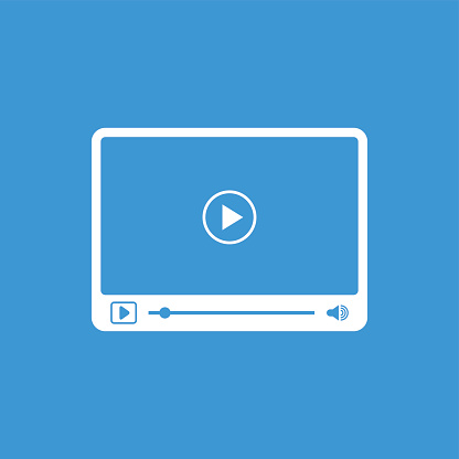 Interface of simple video player with icons