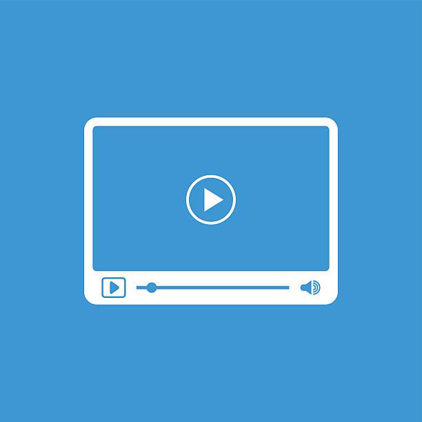 ilustrações de stock, clip art, desenhos animados e ícones de interface do leitor de vídeo simples com os ícones - video