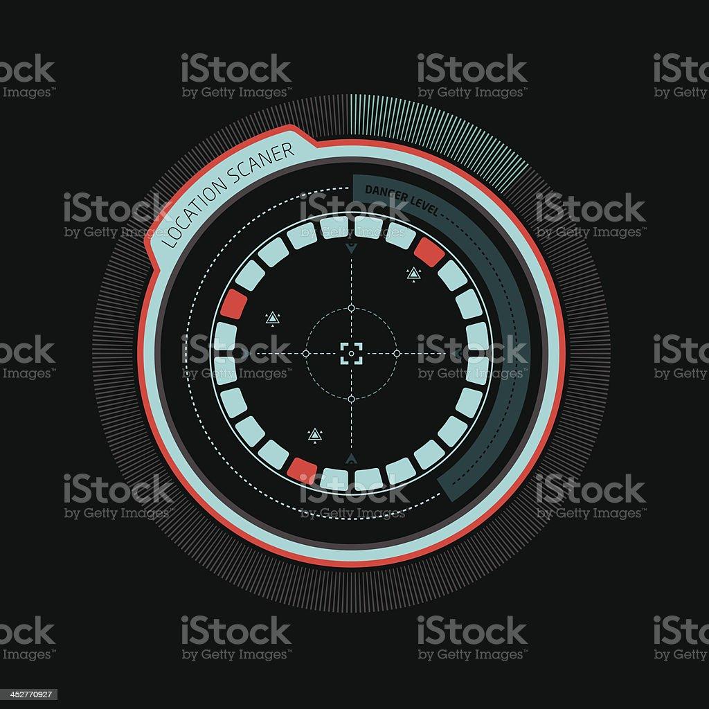 Interface radar royalty-free interface radar stock vector art & more images of alarm