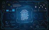 UI HUD interface screen security tech innovative concept background template design EPS 10 vector