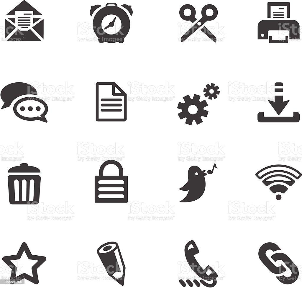 Interface Symbols vector art illustration