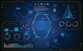 HUD interface UI future virtual artificial intelligence innovation design template