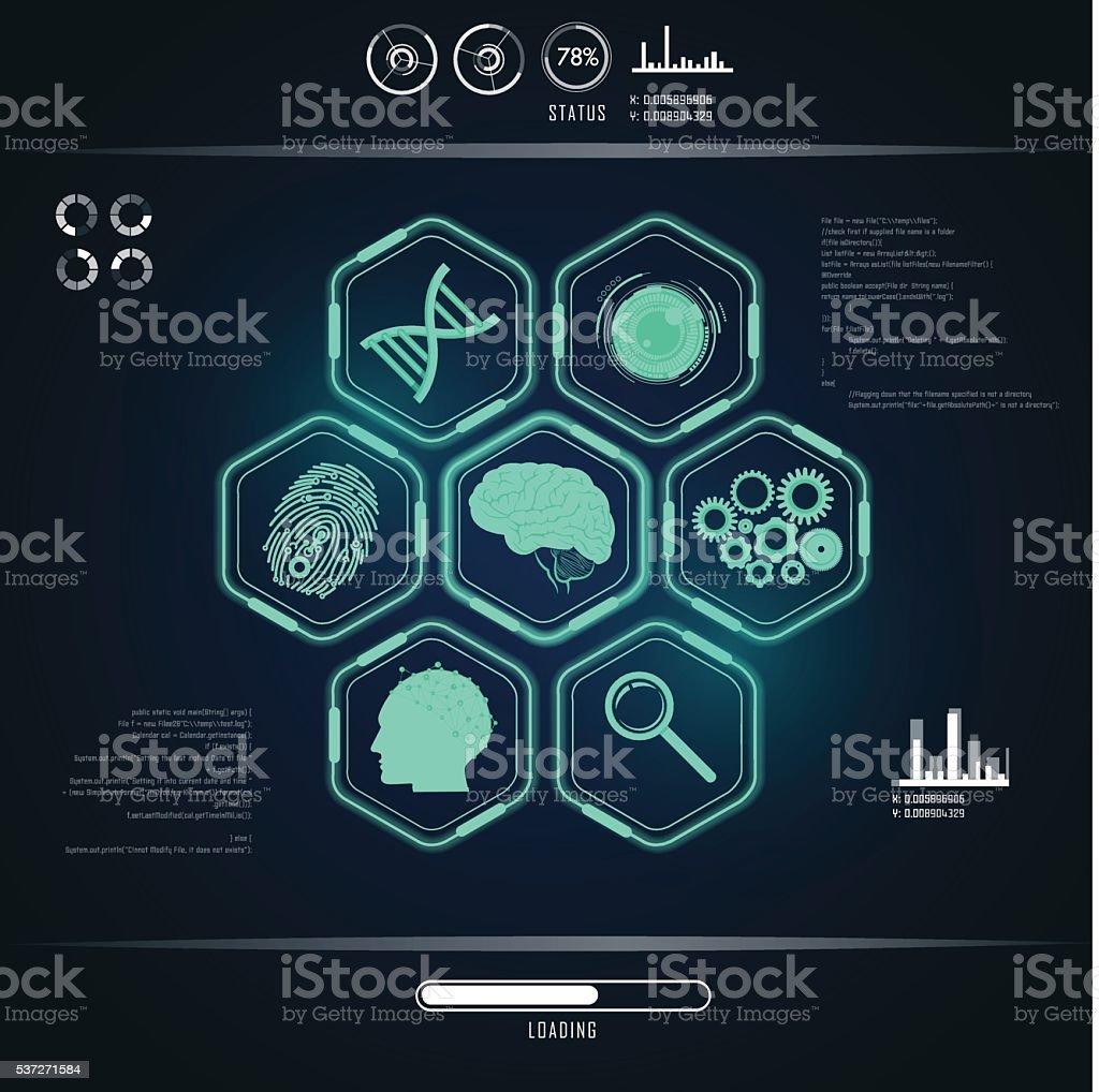 interface vector art illustration