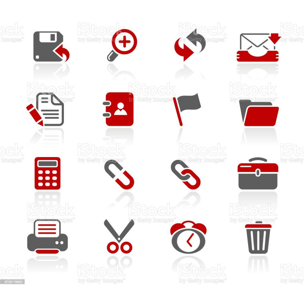 Interface Web ícones / / série Redico - ilustração de arte em vetor