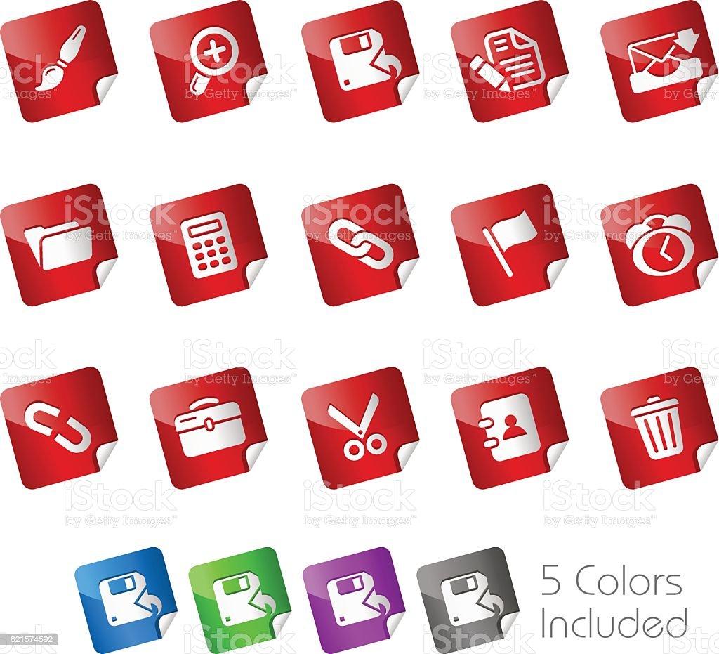 Interface Web Icons // Stickers Series - ilustração de arte em vetor