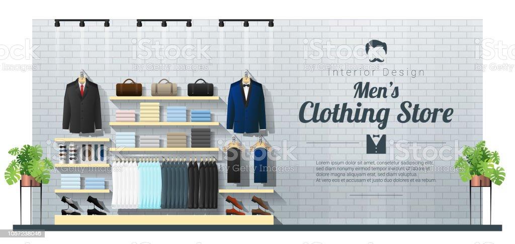 newest collection d3754 d9132 Inneren Hintergrund Der Modernen Männer Kleidung Shop Vektor ...