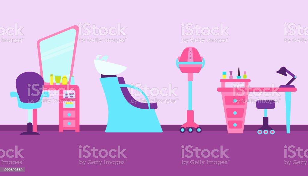 Ilustracion De Interior Salon De Belleza Y Mas Vectores Libres De