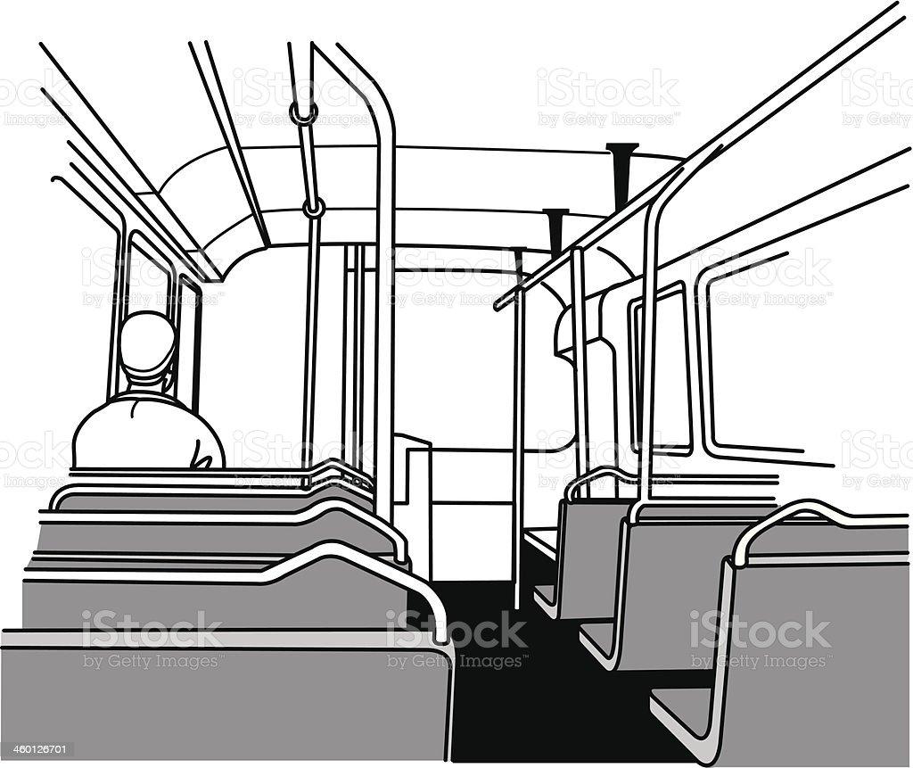 interior bus vector art illustration