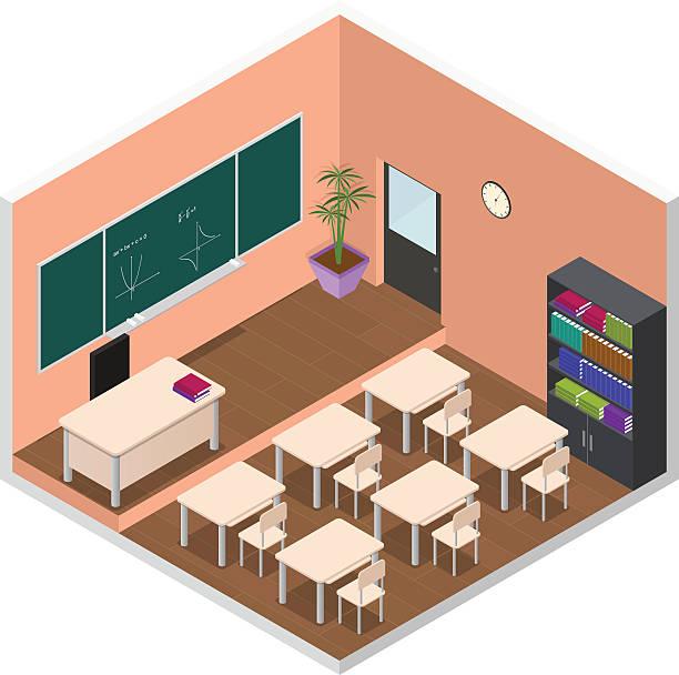 Elementary Classroom Clipart ~ Royalty free elementary classroom clip art vector images