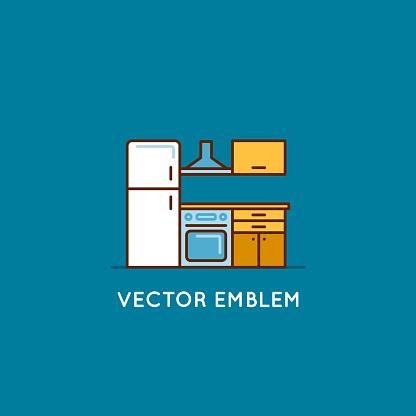 Interior design concept - furniture for kitchen