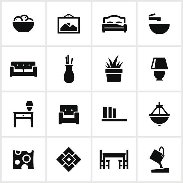 interior design-elemente-symbole - bodenbetten stock-grafiken, -clipart, -cartoons und -symbole
