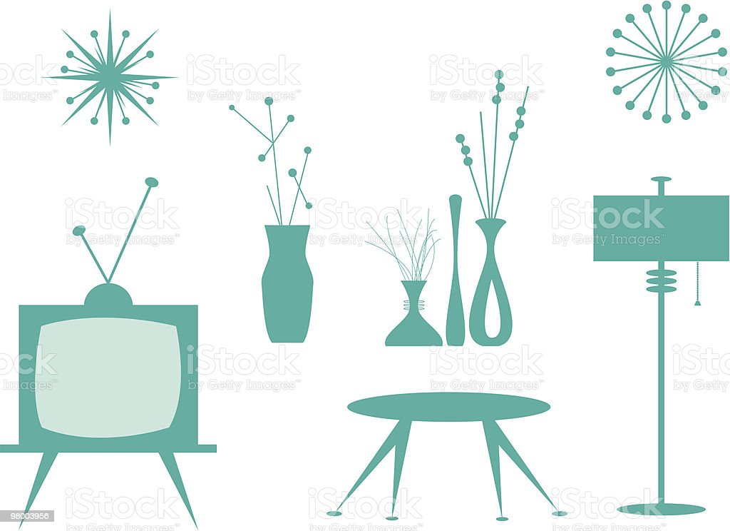 Interior Design Elements royalty-free interior design elements stock vector art & more images of 1950-1959
