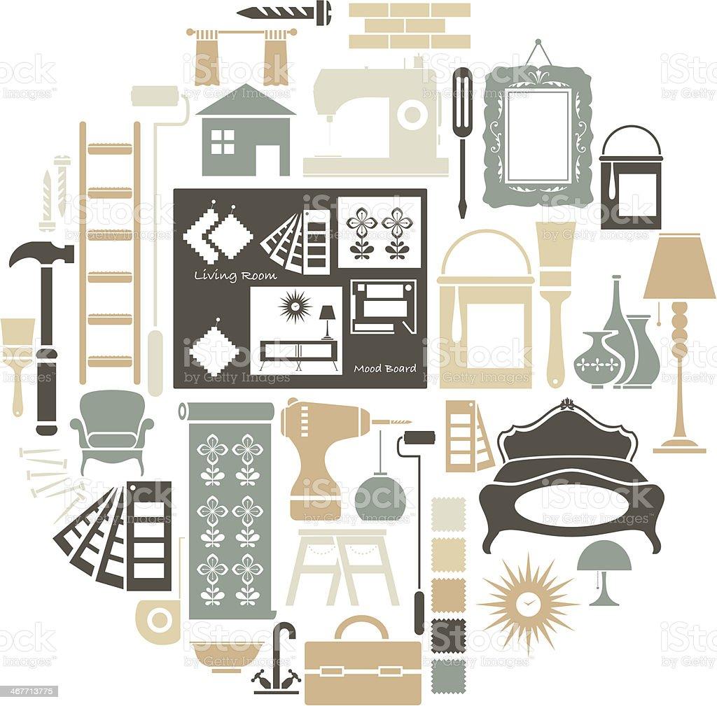 royalty free interior designer clip art vector images rh istockphoto com House Clip Art interior design clipart