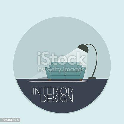 Interior Design Logo Stock Vector Art 639809620