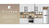 Interior design Modern kitchen background 2