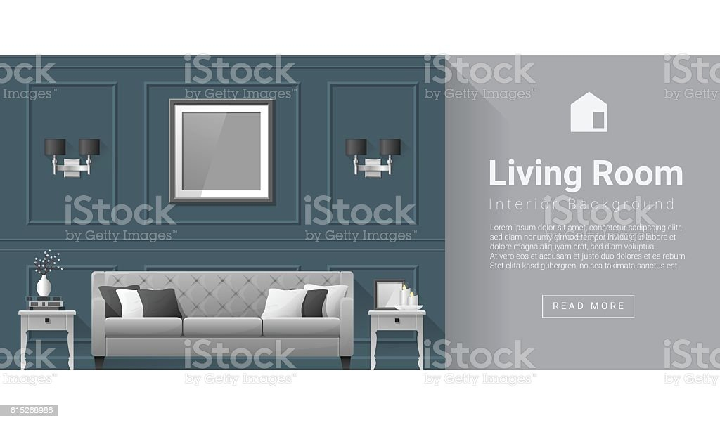 Interior design Modern living room background 5 vector art illustration