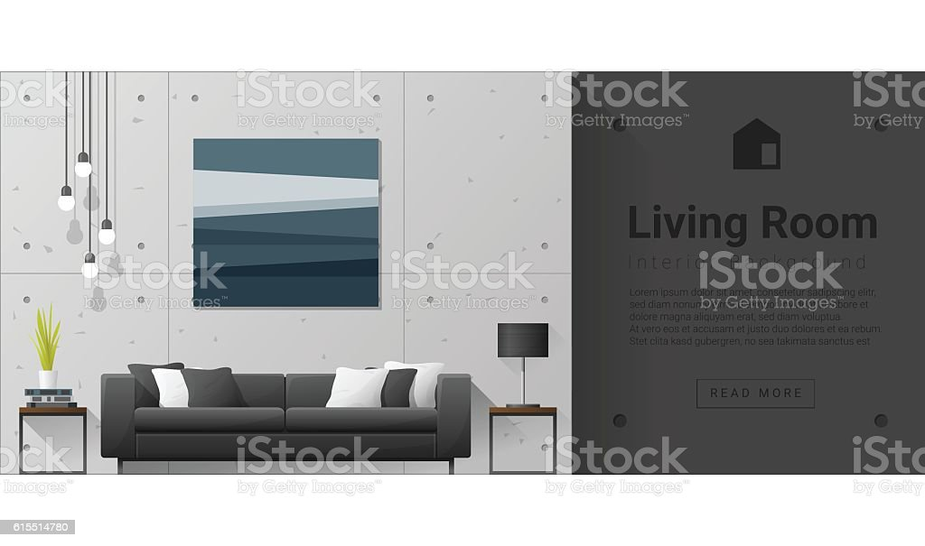 Interior design Modern living room background 6 vector art illustration