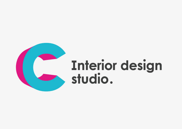 Interior design studio emblem. Letter C Interior design studio vector emblem. Letter C letter c stock illustrations