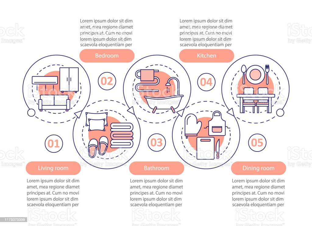 Interior Design Vector Infographic Template Stock Illustration Download Image Now Istock