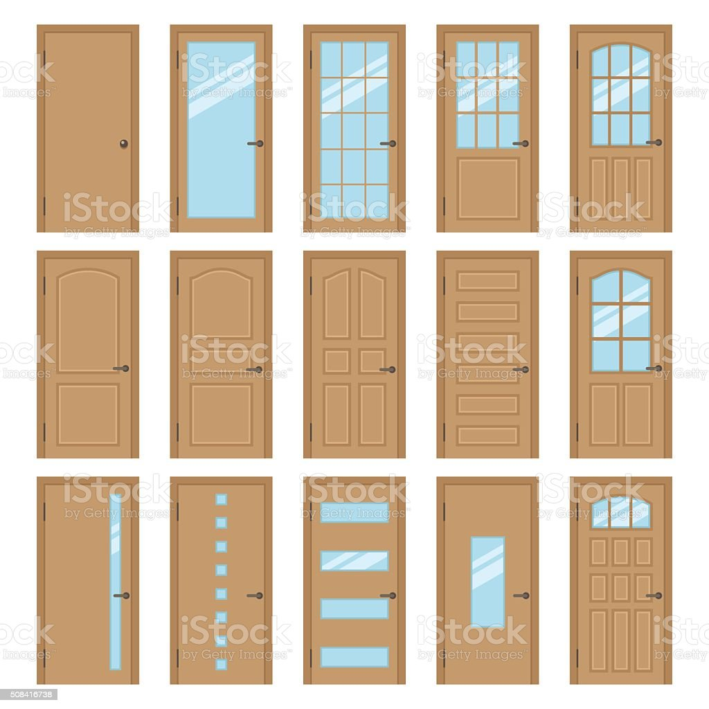 Interior doors stock vector art more images of for Different types of interior doors