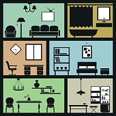 interior furniture icons