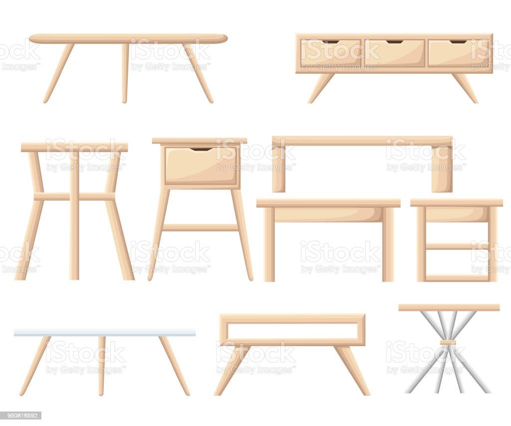 Innenausbau Möbelset Schlafzimmermöbel Bett Tisch Nachttisch Korb ...
