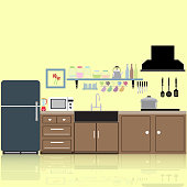 interior kitchen two dimensional color tones image Reflections