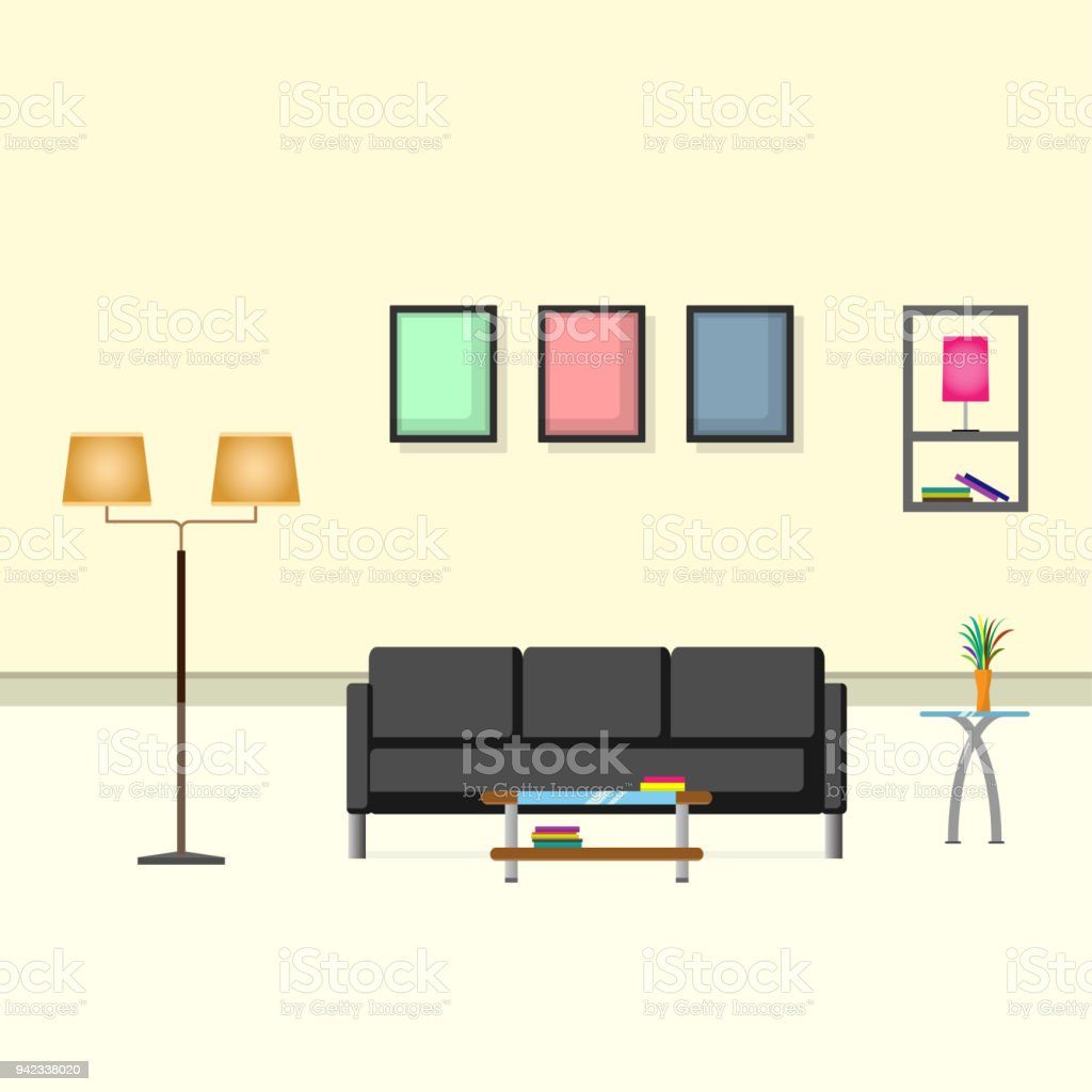 Empty Living Room Clipart - Awesome Graphic Library •