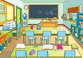 Interior of a school classroom