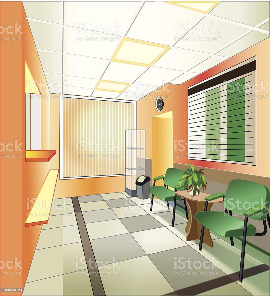 interior of hospital (vector illustration) vector art illustration