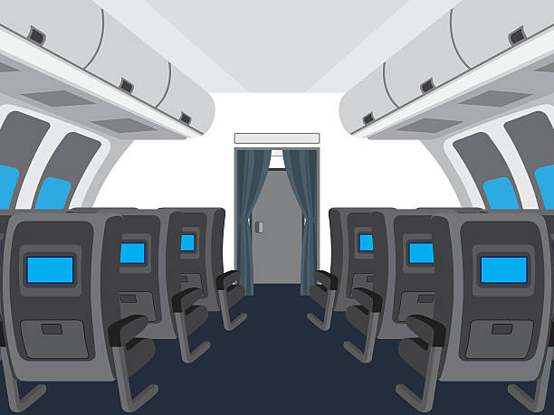 Top 60 Airplane Interior Clip Art Vector Graphics And
